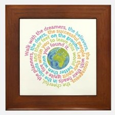 Walk with the dreamers Framed Tile