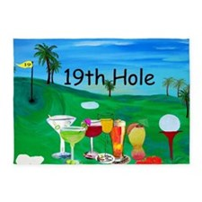 19th Hole Golf 5'x7'Area Rug