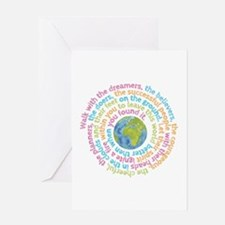 Walk with the dreamers Greeting Cards