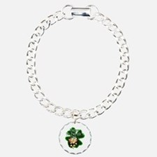 St Patrick's Day Pot of Charm Bracelet, One Charm