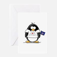 North Dakota Penguin Greeting Card