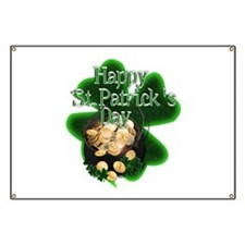 St Patrick's Day Pot of Gold Banner