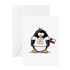 Texas Penguin Greeting Card