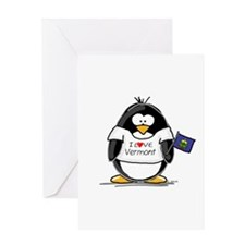 Vermont Penguin Greeting Card