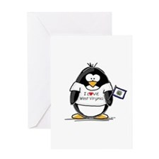 West Virginia Penguin Greeting Card