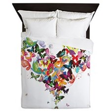 Butterfly Heart Queen Duvet