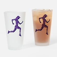 Run Hard Drinking Glass