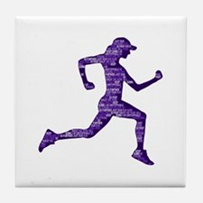 Run Hard Tile Coaster