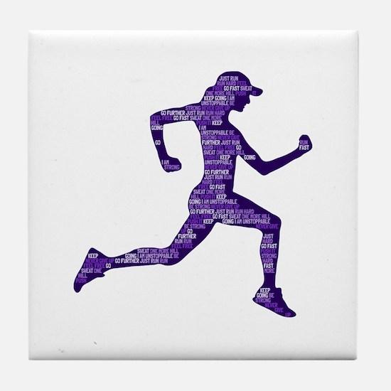Run Hard Tile Coaster