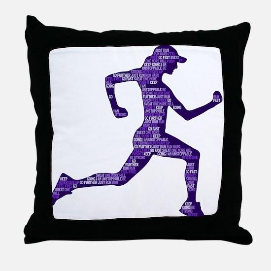 Run Hard Throw Pillow