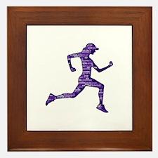 Run Hard Framed Tile