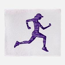 Run Hard Throw Blanket