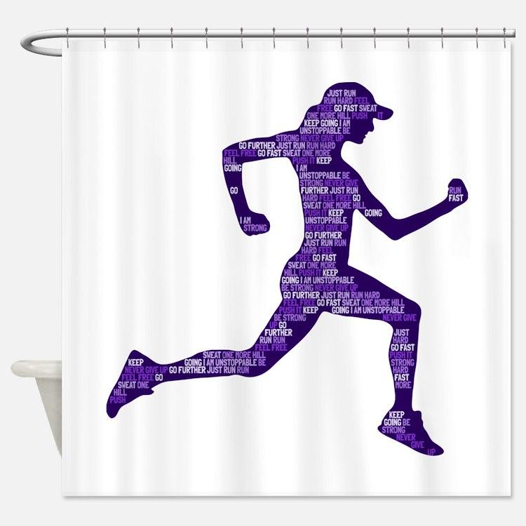 Run Hard Shower Curtain