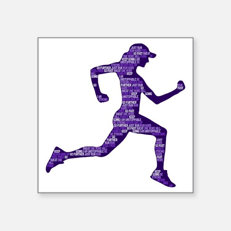 Run Hard Sticker