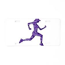 Run Hard Aluminum License Plate