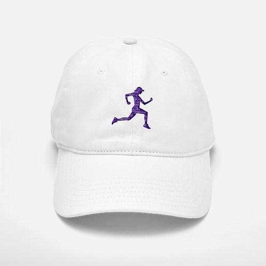 Run Hard Baseball Baseball Cap