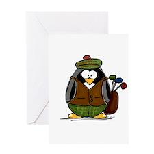 Golf Penguin Greeting Card
