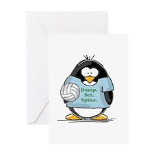 volleyball bump set spike Pen Greeting Card