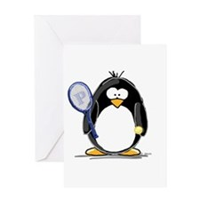 Tennis Penguin Greeting Card