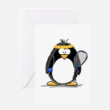 racquetball Penguin Greeting Card
