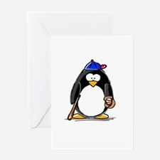 Baseball penguin Greeting Card