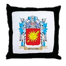 Spadari Coat of Arms - Family Crest Throw Pillow