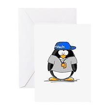Coach penguin Greeting Card