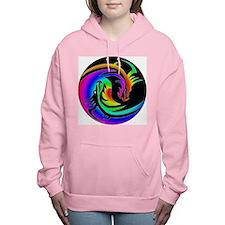 Zen rainbow dragons 11x11 Women's Hooded Sweatshir