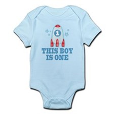 Rocket Ship 1st Birthday Body Suit