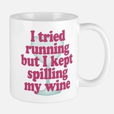 Wine vs Running Lazy Humor Mugs