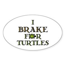 I Brake for Turtles Rectangle Stickers