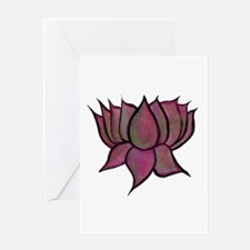 Pink Lotus Flower Card Blank Greeting Cards