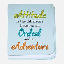 Attitude Quote baby blanket