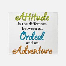 Attitude Quote Throw Blanket