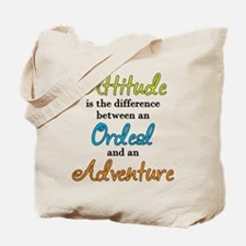 Attitude Quote Tote Bag