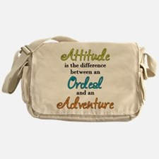 Attitude Quote Messenger Bag