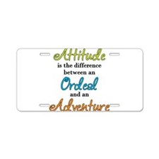 Attitude Quote Aluminum License Plate