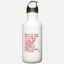 Do Not Go Where The Pa Water Bottle