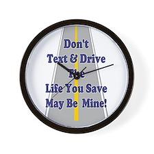 Don't Text & Drive Wall Clock