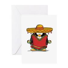 Fiesta Penguin Greeting Card