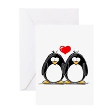 Love Penguins Greeting Card