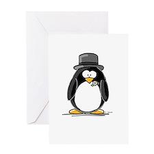 Groom penguin Greeting Card
