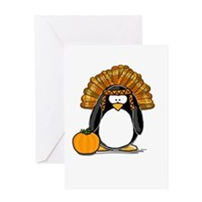 Indian Chief Penguin Greeting Card
