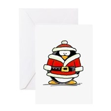 Santa Claus penguin Greeting Card