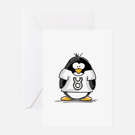 Taurus Penguin Greeting Card