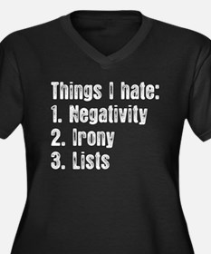 Things I Hate Plus Size T-Shirt