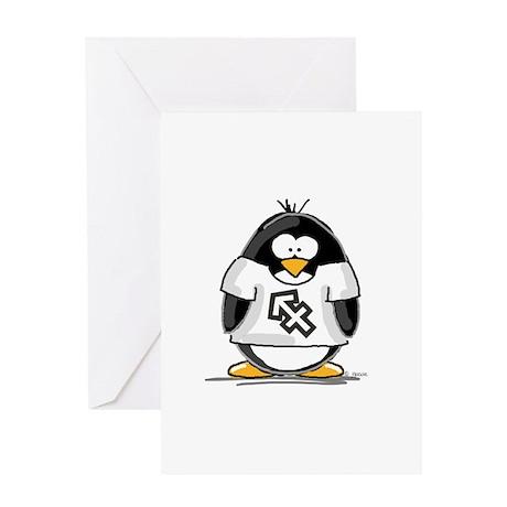 Sagittarius Penguin Greeting Card