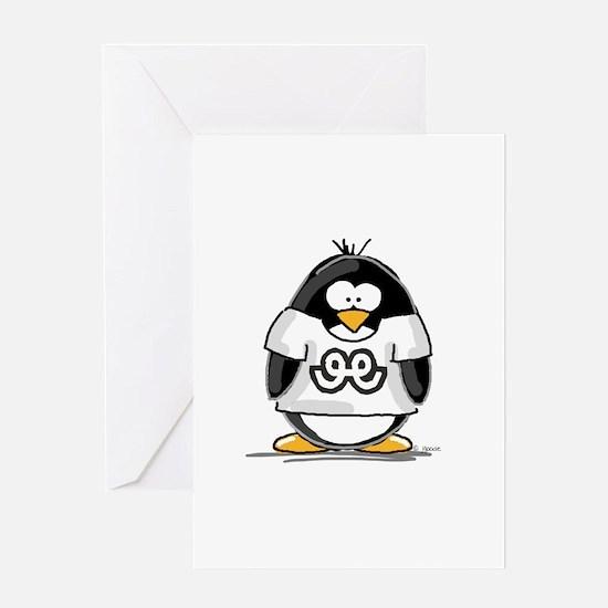 Capricorn Penguin Greeting Card