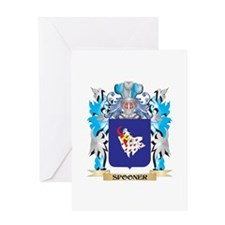 Spooner Coat of Arms - Family Crest Greeting Cards