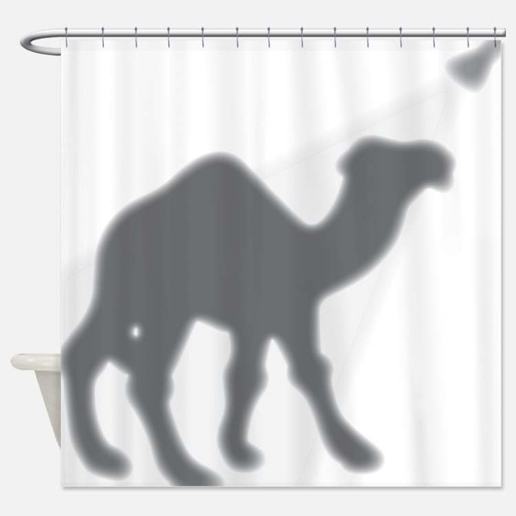 Camel in the Shower Shower Curtain